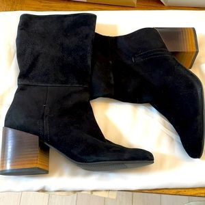NAKED FEET BLACK SUEDE BOOTS.  NEW